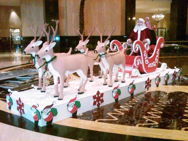 Dekorasi Kereta kuda santa clause tema Natal (Christmas)