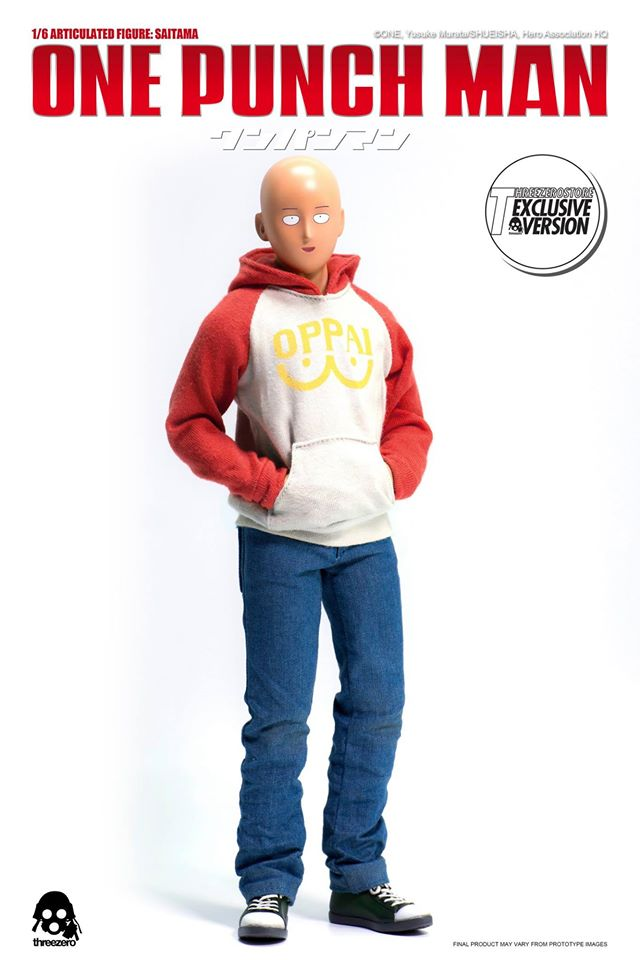 "7/"" One Punch Man Sitting Plush Great Eastern Anime Saitama Oppai Clothes"