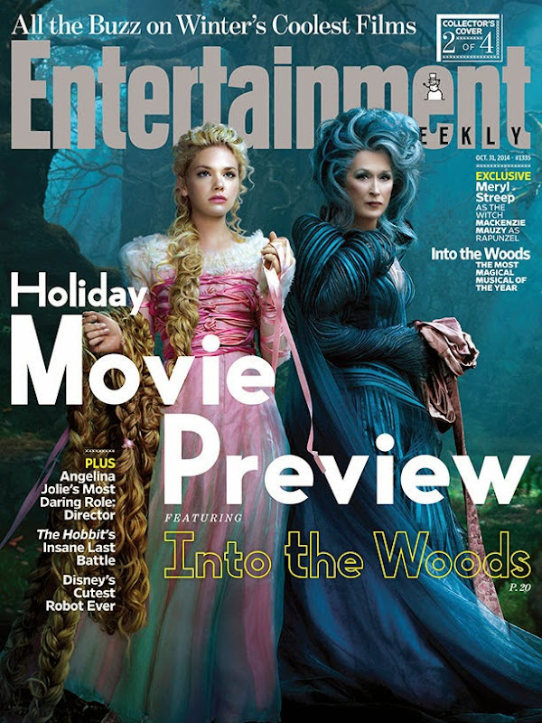Entertainment Weekly Into the Woods Rapunzel Witch cover