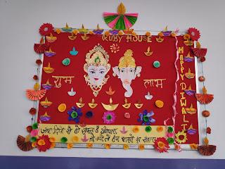 School decoration School Decorations, Diwali Decorations, School Bulletin