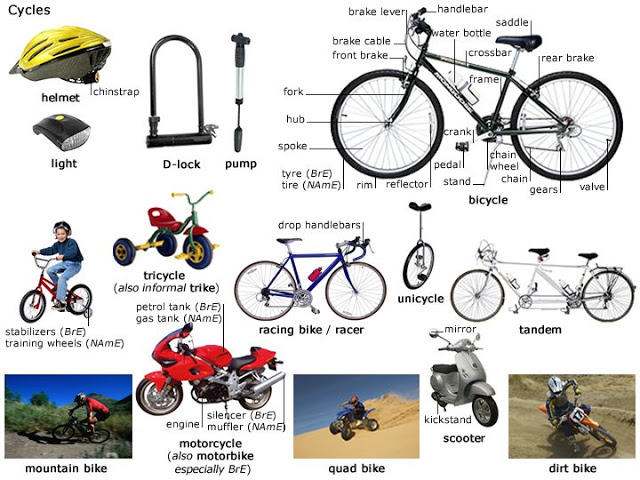 vocabulary bikes