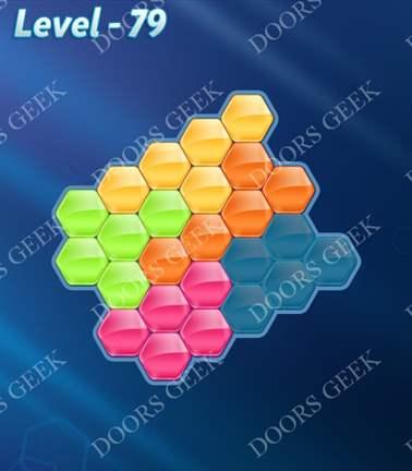 Block! Hexa Puzzle [Rainbow A] Level 79 Solution, Cheats, Walkthrough for android, iphone, ipad, ipod