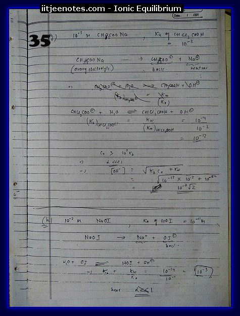 Ionic Equilibrium Notes IITJEE 3