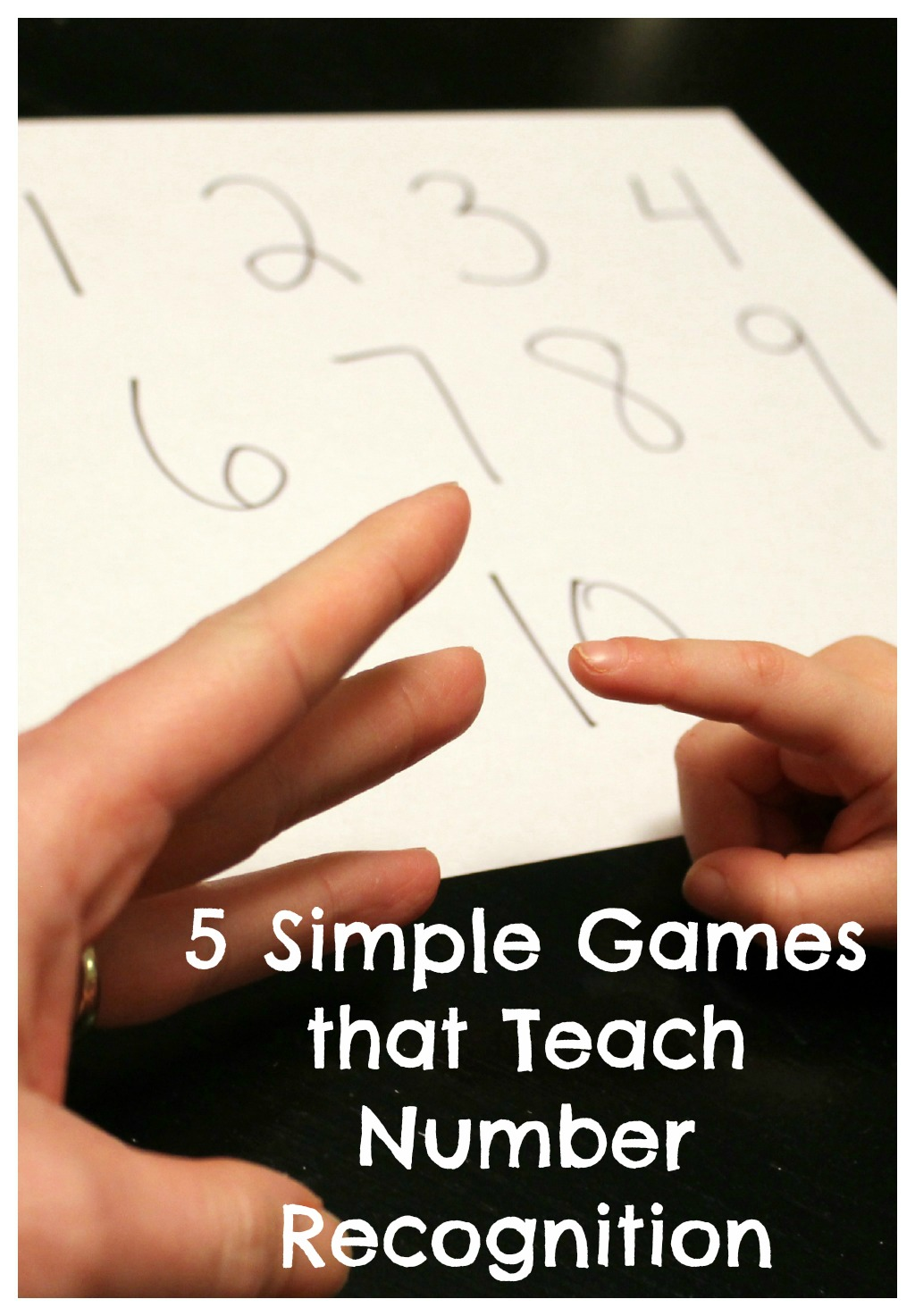 5 Simple Games for Teaching Number Recognition ~ Reading Confetti