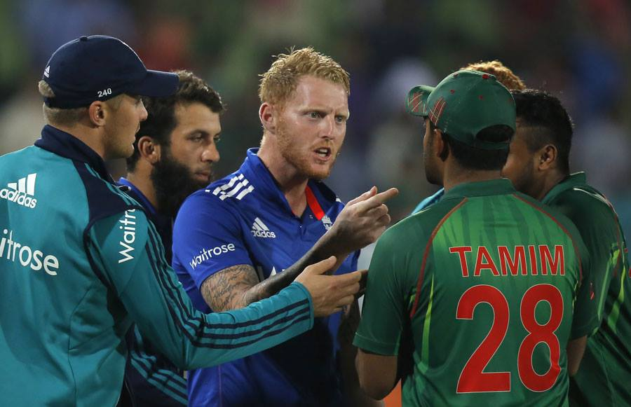 Tamim Iqbal and Ben Stokes fight in Champions Trophy 2017