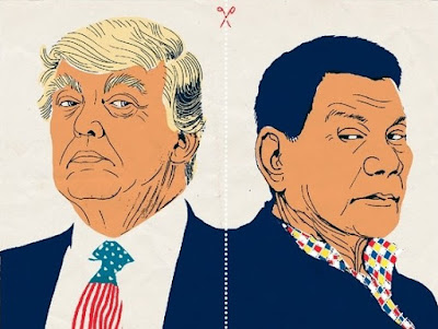 Donald Trump (left), Rodrigo Duterte