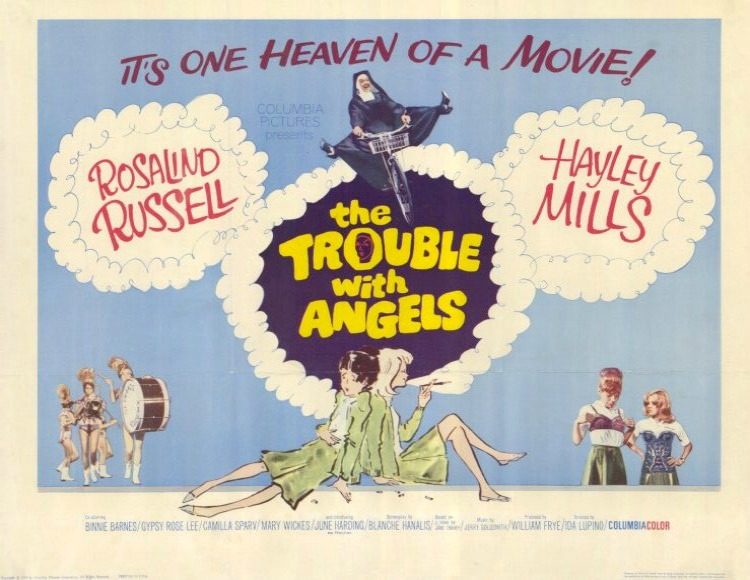 A Vintage Nerd, Old Hollywood Blog, Classic Film Blog, Movie Madness Monday, Film Recommendations, Religious Classic Films, Trouble With Angels