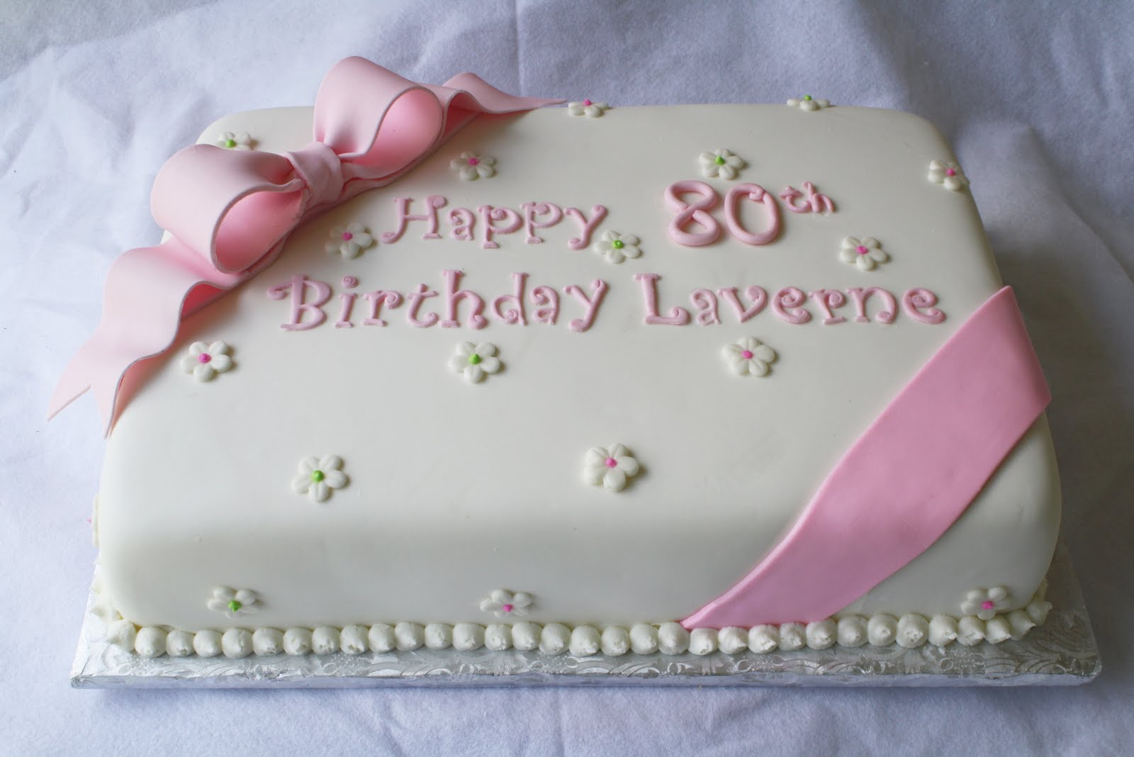 Pink Green Sheet Cakes For 1st And 80th Birthdays