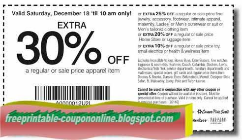 Carson pirie scott 10 off printable coupon