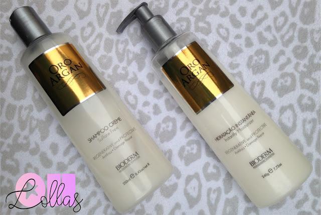 Shampoo e condicionador Oro Argan Bioderm