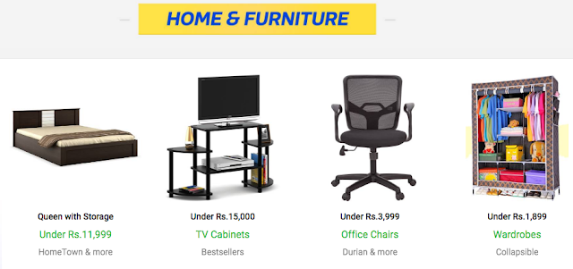 Flipkart The Big Billion Days Sale - Day 1 - Furniture