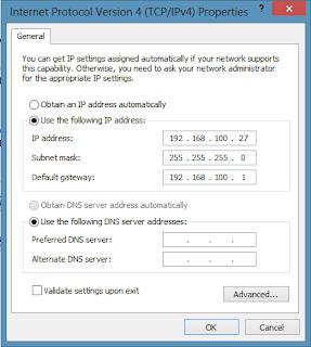 Memberikan IP Address Pada Komputer
