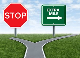 Going the extra mile will positively stand you out