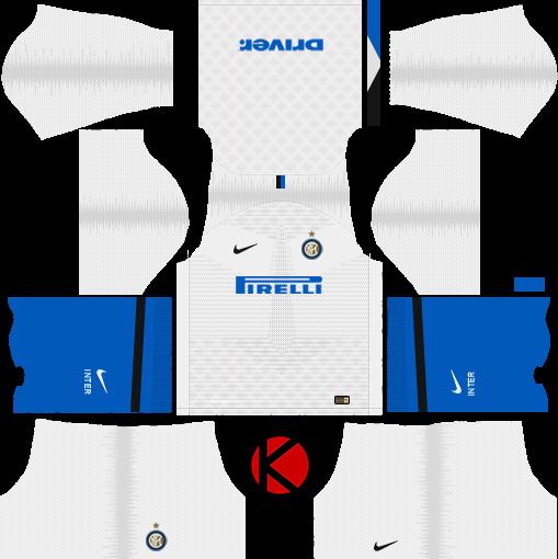Inter Milan 2018 19 Kit - Dream League Soccer Kits - Kuchalana e61904e9e