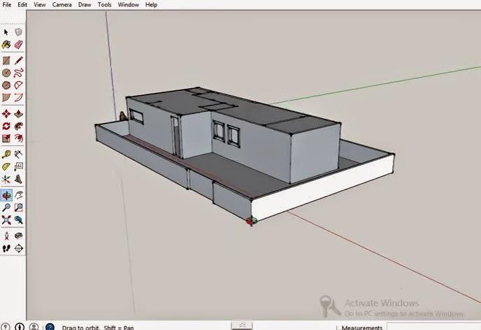 วิธีการสร้างบ้าน3dแบบง่ายๆในโปรแกรม Sketchup 2014 Graphic Cad Draiwng
