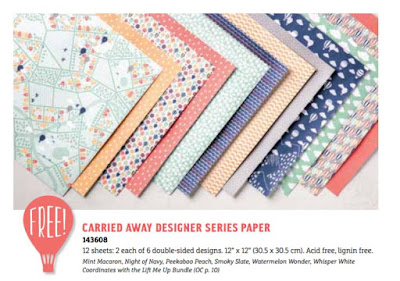Carried Away Designer Series Paper - FREE with a $90 order - Sale-A-Bration - Simply Stamping with Narelle - buy here - https://www3.stampinup.com/ecweb/default.aspx?dbwsdemoid=4008228