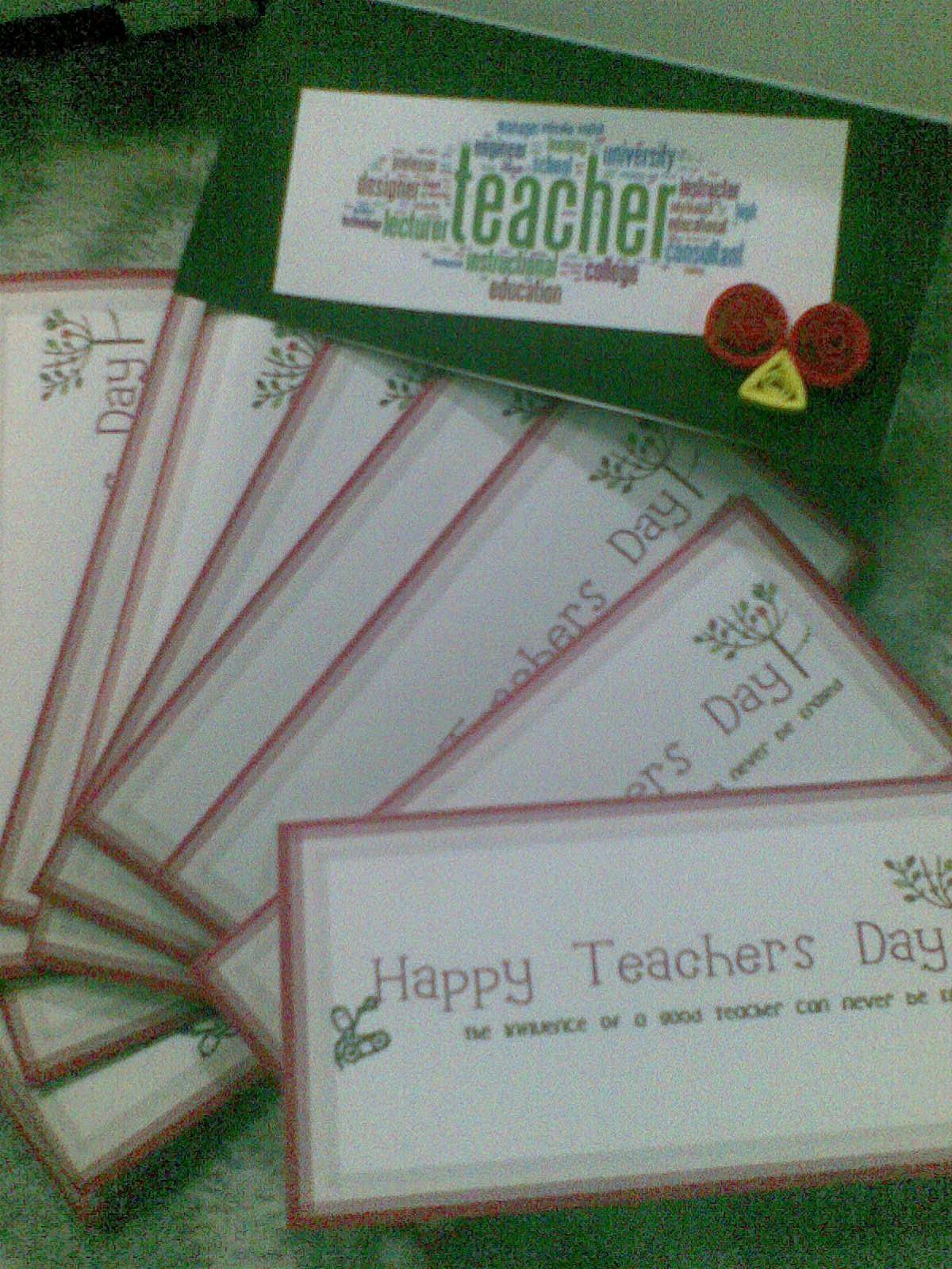 Mardhiah's Craft: Teacher's Day Cards