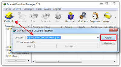 Añadir URL IDM