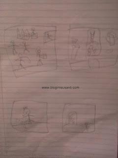 Kegiatan corat-coret bisa melatih imajinasi