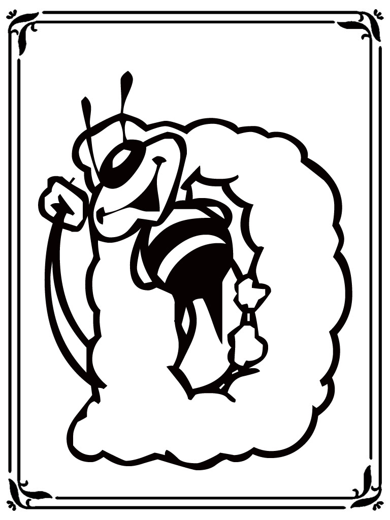 bee style alphabet coloring book