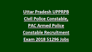 Uttar Pradesh UPPRPB Civil Police Constable, PAC Armed Police Constable Recruitment Exam 2018 51216 Govt Jobs