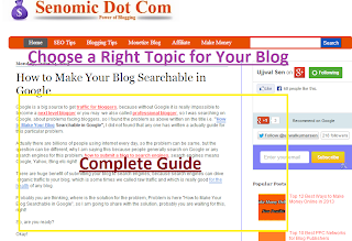 Choose Blog Topic to Earn Money