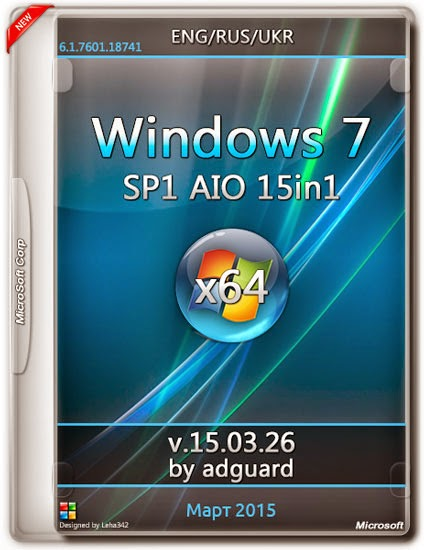 Download Windows 7 SP1 x64 AIO 15in1 + Activator