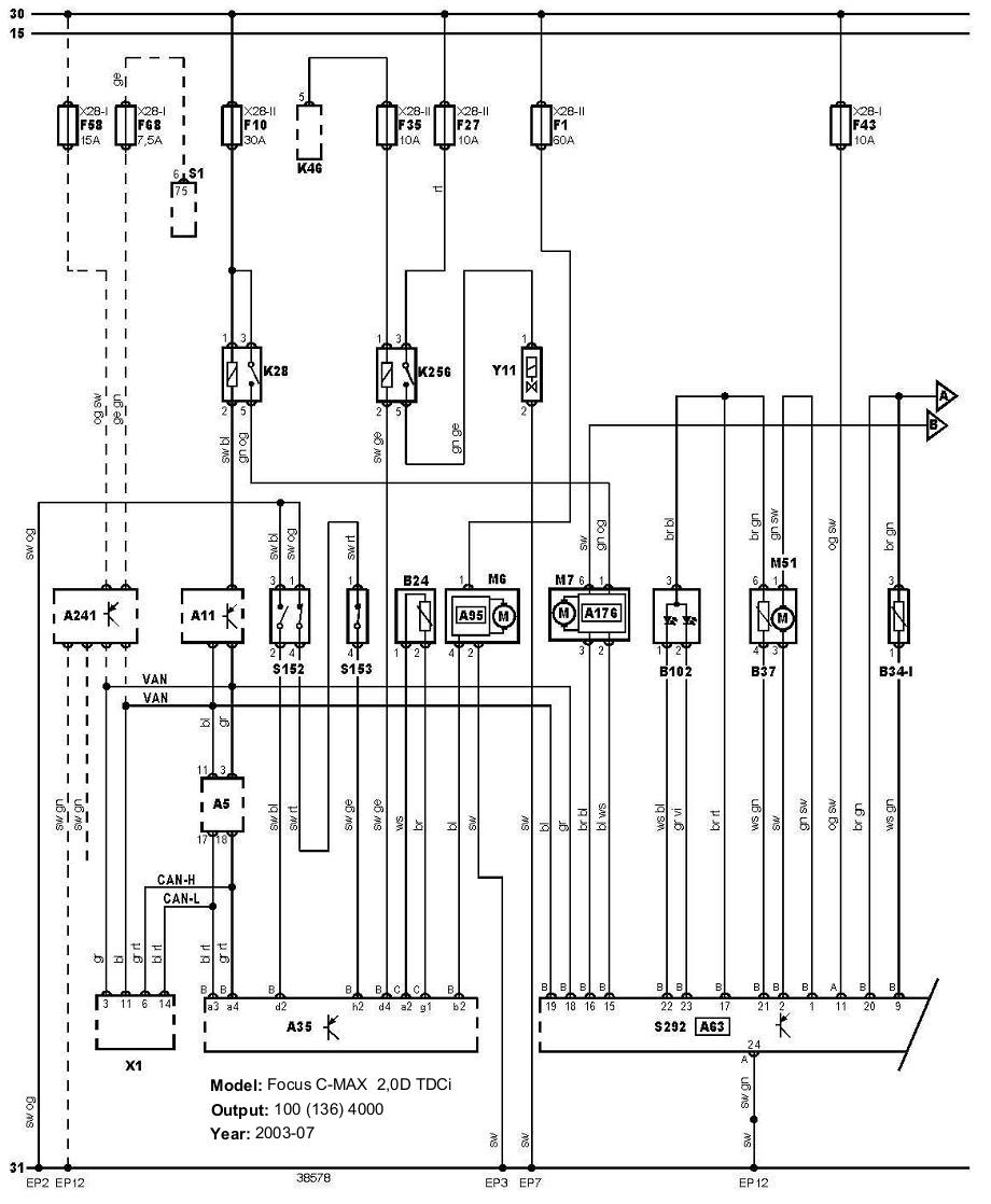 ford focus mk1 towbar wiring diagram 2004 chevy silverado bose stereo c max schematic library best