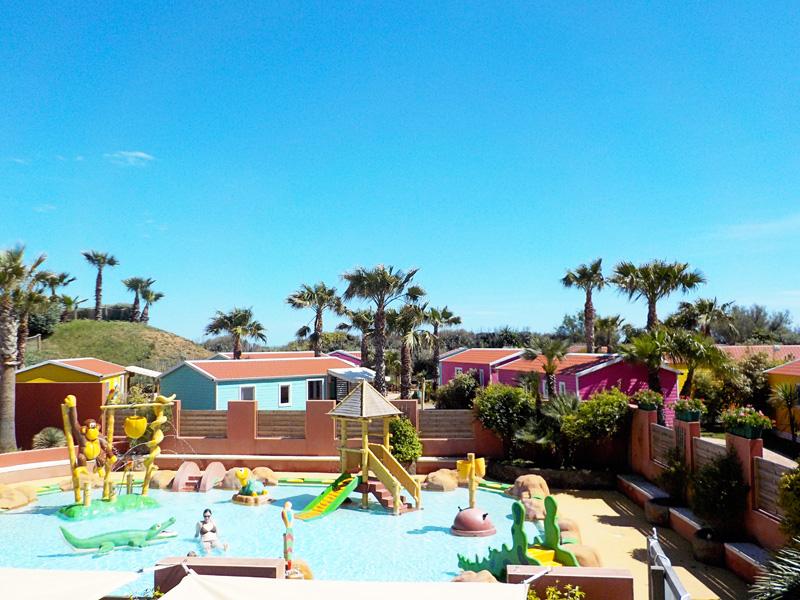 eurocamp, Aloha Village Parc in Serignan Plage in the South of France,