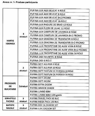 regulament lista produse participante concurs pufina 2018 2019
