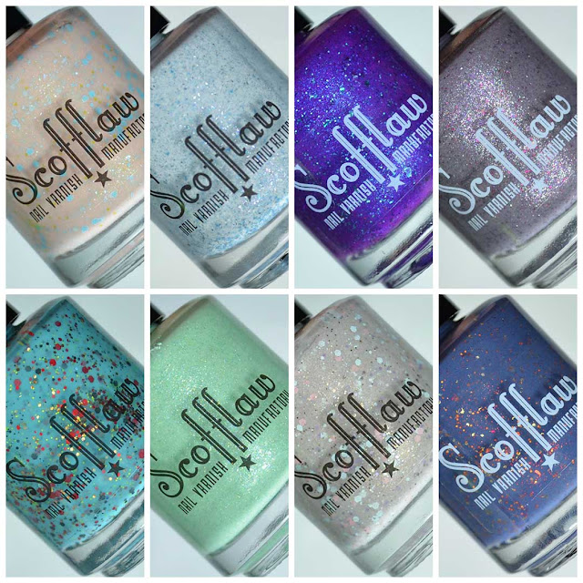 eight piece nail polish collection