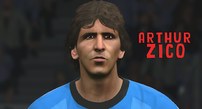 PES 2016 Zico Classic Brazil Face by Wygno