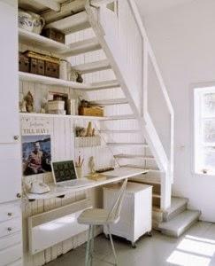 diseño oficina bajo escalera