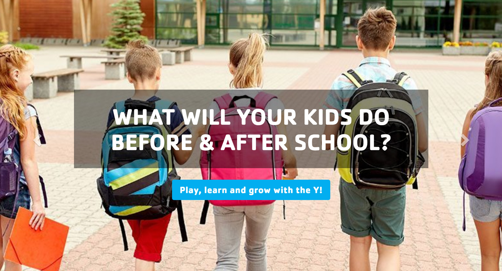 The Indianapolis YMCA uses efficacious copy and a relatable photo to convince parents to enroll their children in the organization's before- and after-school care programs.