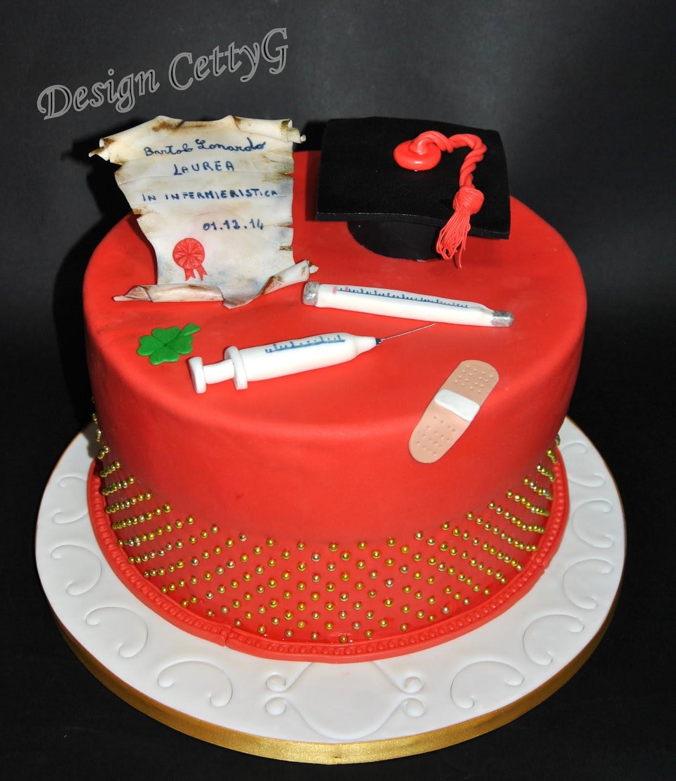 Molto Le torte decorate di Cetty G: Laurea in Infermieristica cake. CM88