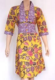 model Dress Pendek batik Kerja terbaru