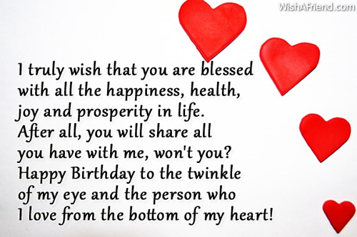 happy birthday from the bottom of my heart