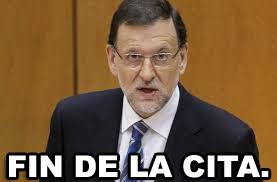 Fin De La Cita, Mariano Rajoy