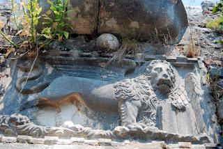 détail du lion, murailles Kotor