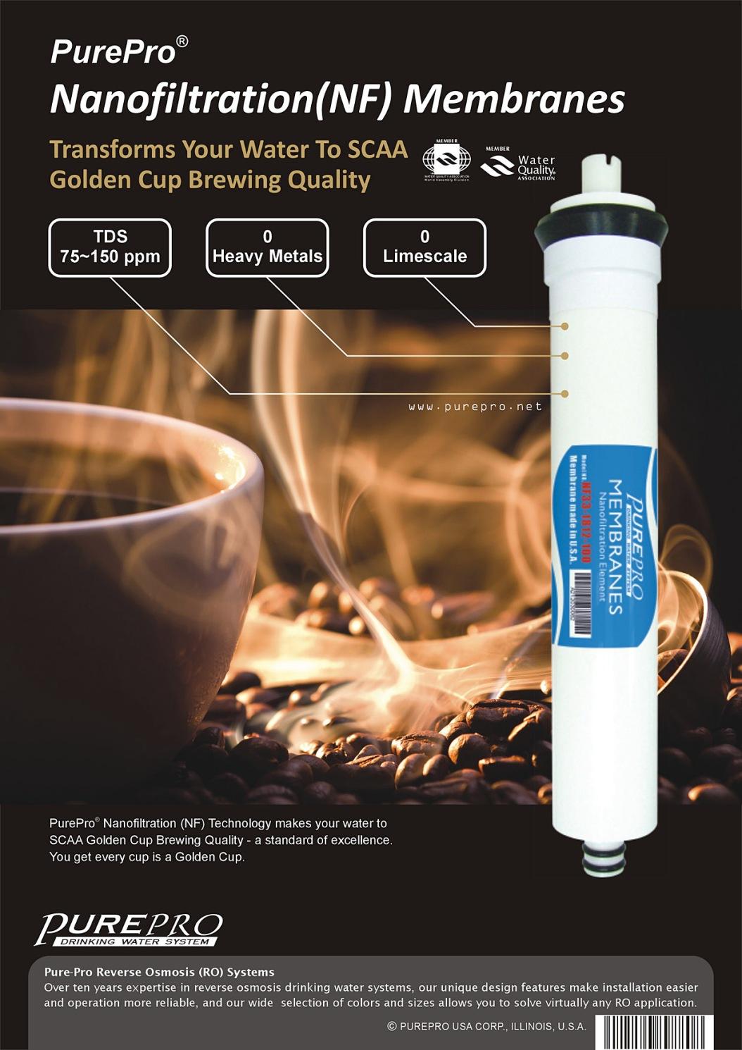 PurePro® Nanofiltration (NF) Water Purification Espresso Pro 100 200 400 GPD
