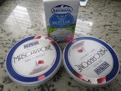 Borrachines de mascarpone y chocolate Thermomix