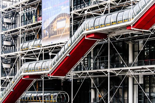 Massive building under construction in France