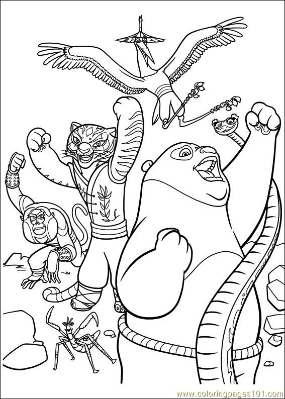 Kung Fu Panda 2 Coloring Pages Minister