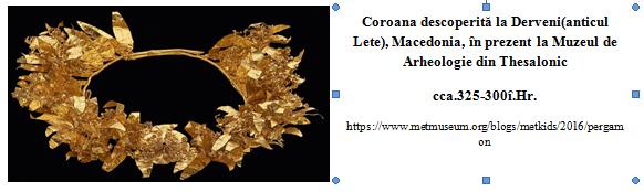 Coroana descoperita la Derveni (Grecia)