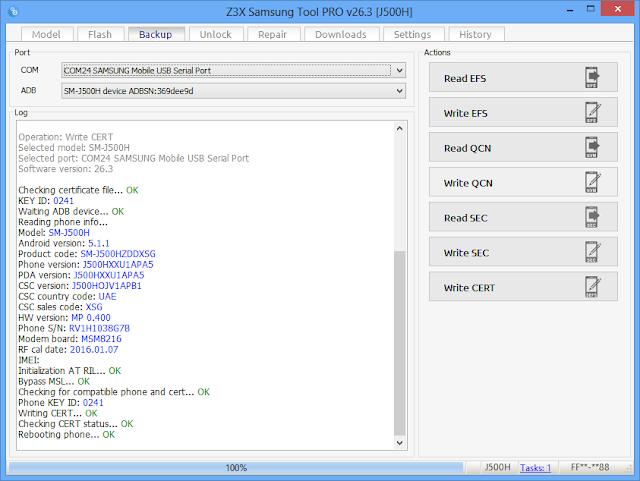 J500h Read Cert File