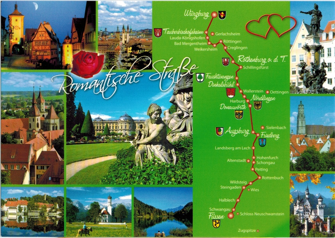 Map Cards Hunting 0190 Germany The Romantic Road