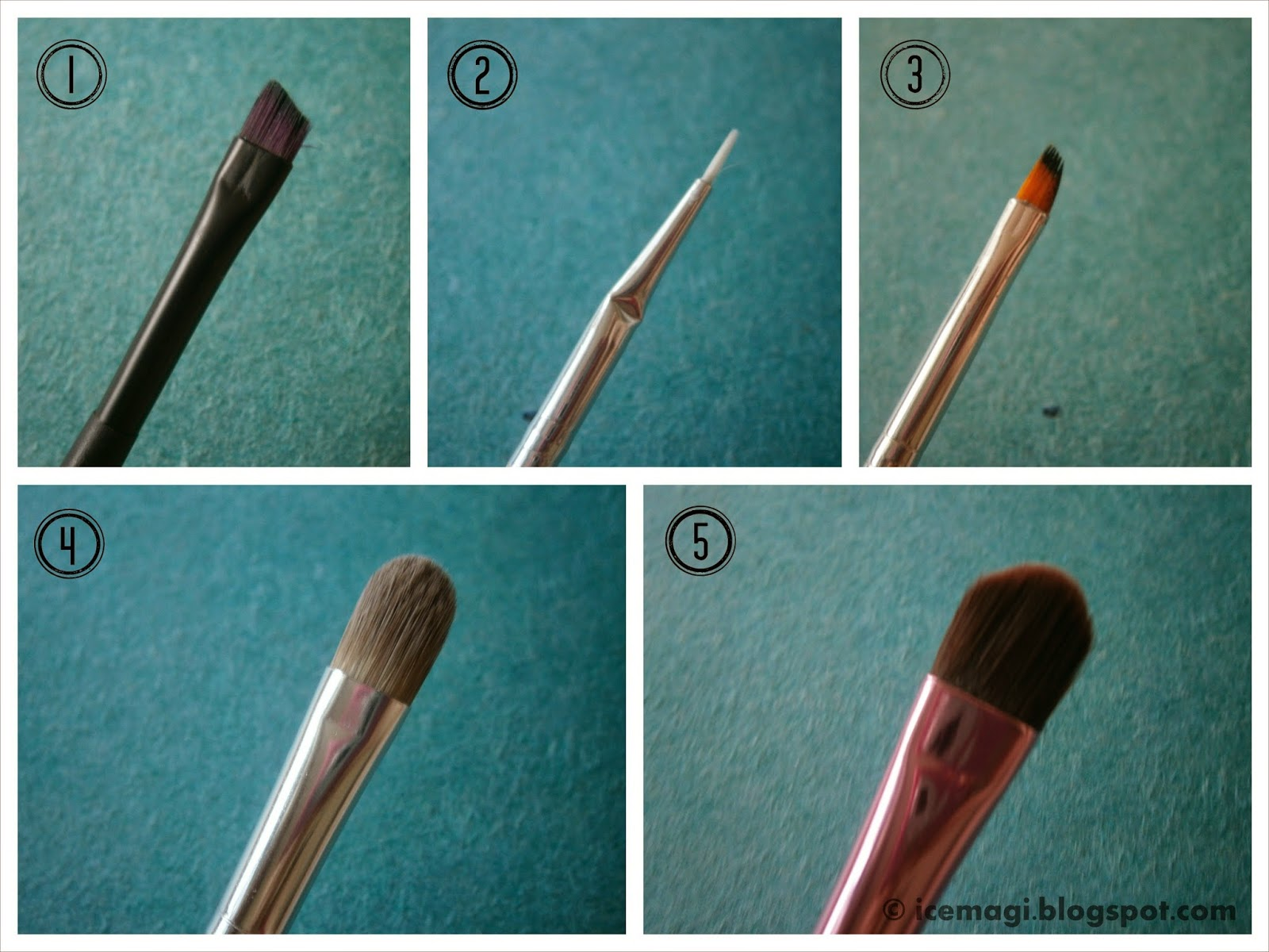 Eyeliner & eyeshadow brushes