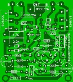 PCB Power Amplifier OCL 150W
