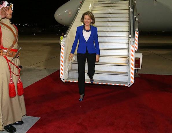 Jordan visit of Queen Mathilde of Belgium started, Queen Mathilde will also meet with Queen Rania of Jordan.