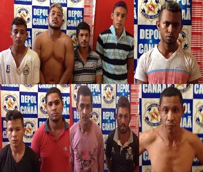 POLÍCIAS CIVIL E MILITAR PRENDEM 10 POR TRÁFICO DE DROGAS EM CANAÃ DOS CARAJÁS